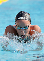 Trofeo Settecolli di nuoto al Foro Italico, Roma, 14 giugno 2013.<br /> Zsuzsanna Jakabos, of Hungaria, competes in the women's  400 meters medley at the Sevenhills swimming trophy in Rome, 14 June 2013.<br /> UPDATE IMAGES PRESS/Isabella Bonotto