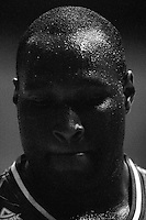 Boomers forward Nathan Jawai after the loss during the International basketball match between the NZ Tall Blacks and Australian Boomers at TSB Bank Arena, Wellington, New Zealand on 25 August 2009. Photo: Dave Lintott / lintottphoto.co.nz