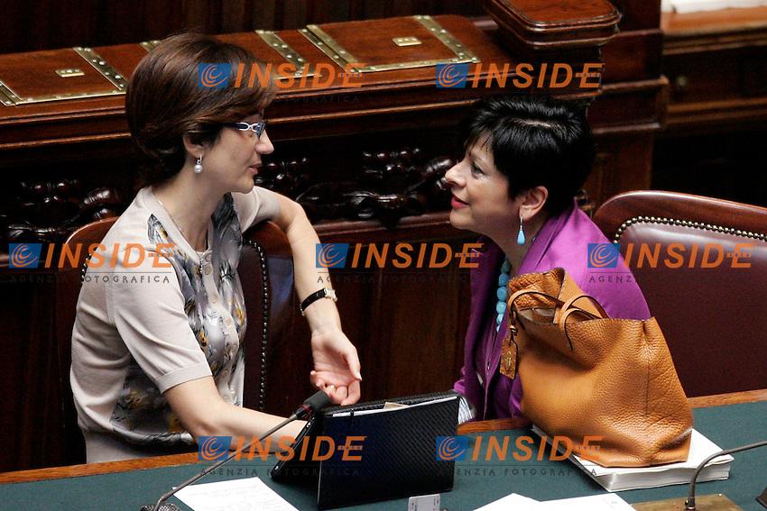MARIASTELLA GELMINI E VALENTINA APREA..Roma 06/07/2011 Camera. Discussione in materia di Testamento Biologico...Photo Insidefoto Foto Samantha Zucchi Insidefoto