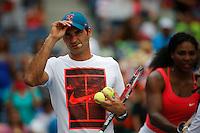 Roger Federer of Switzerland attend the Arthur ASHE kids day during the US Open 2015 tennis Tournament in New York. 08.29.2015.  Eduardo MunozAlvarez/VIEWpress.