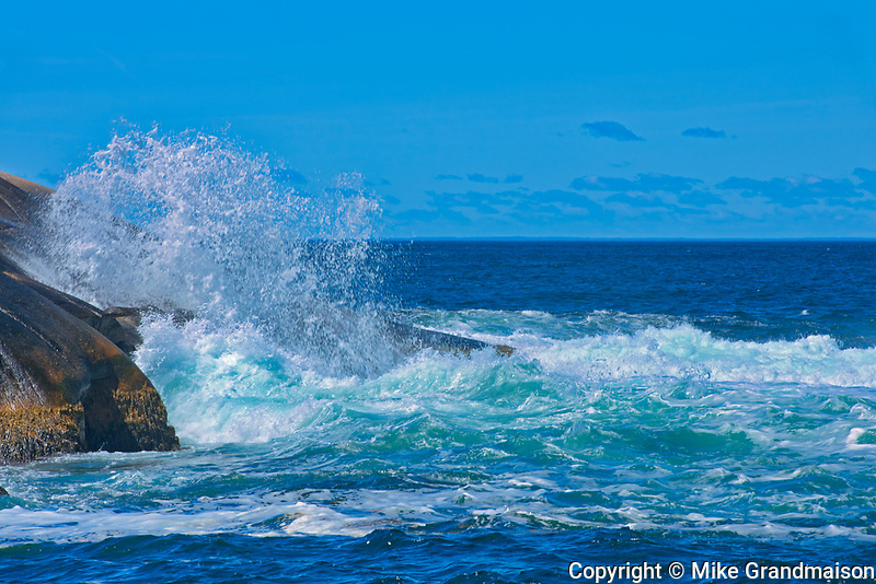 Waves crashing on the shore of the Atlantic Ocean<br />