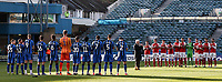 Fleetwood Town and Gillingham players participate in a minute's applause<br /> <br /> Photographer Andrew Kearns/CameraSport<br /> <br /> The EFL Sky Bet League One - Gillingham v Fleetwood Town - Saturday 3rd November 2018 - Priestfield Stadium - Gillingham<br /> <br /> World Copyright &copy; 2018 CameraSport. All rights reserved. 43 Linden Ave. Countesthorpe. Leicester. England. LE8 5PG - Tel: +44 (0) 116 277 4147 - admin@camerasport.com - www.camerasport.com