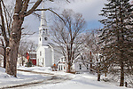The Peacham Congregational Church in Peacham, Vermont, USA