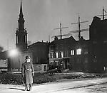 Bobby near Shadwell docks, 1940s