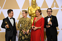 Oscar&reg; winners Sam Rockwell, Frances McDormand, Allison Janney, and Gary Oldman for performance by an actor in a leading role, for work on &ldquo;Darkest Hour&rdquo; during the live ABC Telecast of The 90th Oscars&reg; at the Dolby&reg; Theatre in Hollywood, CA on Sunday, March 4, 2018.<br /> *Editorial Use Only*<br /> CAP/PLF/AMPAS<br /> Supplied by Capital Pictures