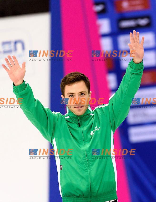 Oliver DINGLEY IRL Ireland <br /> Men's 3m Springboard Final <br /> London, Queen Elizabeth II Olympic Park Pool <br /> LEN 2016 European Aquatics Elite Championships <br /> Diving  <br /> Day 04 12-05-2016<br /> Photo Andrea Staccioli/Deepbluemedia/Insidefoto