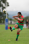 S. Kata kicks a penalty goal.Counties Manukau Premier Club Rugby, Ardmore Marist vs Waiuku played at Bruce Pulman Park, Papakura on the 29th of April 2006. Ardmore Marist won 10 - 9.