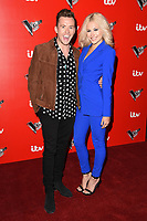Danny Jones and Pixie Lott<br /> at the launch of The Voice Kids, Madame Tussauds, London. <br /> <br /> <br /> &copy;Ash Knotek  D3273  06/06/2017