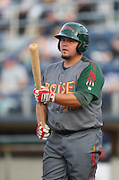 Danny Canela #40 of the Boise Hawks during a game against the Everett AquaSox at Everett Memorial Stadium on July 22, 2014 in Everett, Washington. Everett defeated Boise, 6-0. (Larry Goren/Four Seam Images)