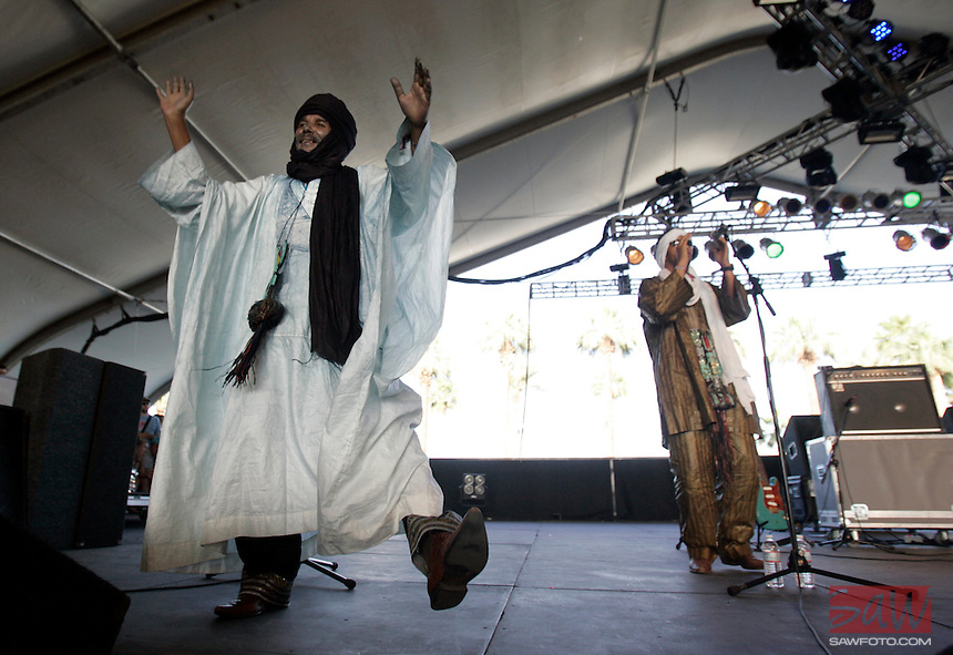 COACHELLA,CA - APRIL18,2009: North African Tuareg rockers 'Tinariwen'  at  Coachella Valley Music and Arts Festival Saturday, April 18, 2009. 147717.CA.0418.coachella