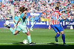 "Atletico de Madrid Mª Pilar ""Mapi"" Leon and FC Barcelona Alexia Putellas during match of La Liga Femenina between Atletico de Madrid and FC Barcelona at Vicente Calderon Stadium in Madrid, Spain. December 11, 2016. (ALTERPHOTOS/BorjaB.Hojas)"