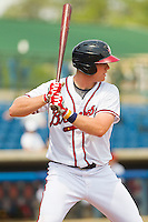 Robert Hefflinger #45 of the Rome Braves at bat against the Hagerstown Suns at State Mutual Stadium on May 2, 2011 in Rome, Georgia.   Photo by Brian Westerholt / Four Seam Images