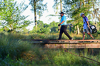 J.B. Holmes (USA) walks across the bridge on 10 during round 2 of the Shell Houston Open, Golf Club of Houston, Houston, Texas, USA. 3/31/2017.<br /> Picture: Golffile | Ken Murray<br /> <br /> <br /> All photo usage must carry mandatory copyright credit (&copy; Golffile | Ken Murray)