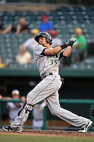 Dayton Dragons outfielder Jonathan Reynoso (35) at bat during a game against the South Bend Silver Hawks on August 20, 2014 at Four Winds Field in South Bend, Indiana.  Dayton defeated South Bend 5-3.  (Mike Janes/Four Seam Images)