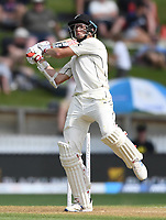 30th November 2019, Hamilton, New Zealand;  Mitchell Santner batting on day 2 of 2nd test match between New Zealand and England,  International Cricket at Seddon Park, Hamilton, New Zealand.  - Editorial Use