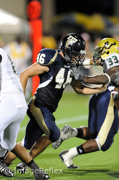 20 September 2008:  FIU long snapper  Michael Davies (46) during the USF 17-9 victory over FIU at FIU Stadium in Miami, Florida.
