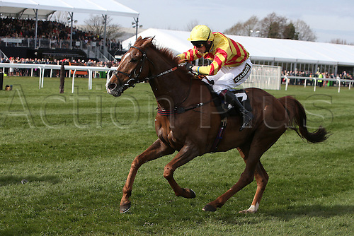 08.04.2016. Aintree, Liverpool, England. Crabbies Grand National Festival Day 2. Al Alfa ridden by James Best  in the Crabbie's Topham Steeple Chase.