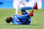 Amath Diedhiou of Getafe CF lies injured during the La Liga 2017-18 match between Getafe CF and SD Eibar at Coliseum Alfonso Perez Stadium on 09 December 2017 in Getafe, Spain. Photo by Diego Souto / Power Sport Images