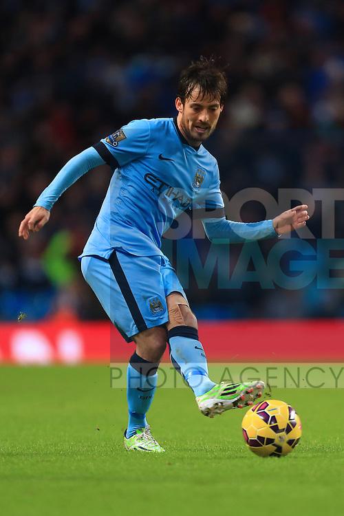 David Silva of Manchester City - Manchester City vs. Sunderland - Barclay's Premier League - Etihad Stadium - Manchester - 28/12/2014 Pic Philip Oldham/Sportimage