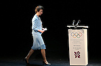 23.07.2012. London England. Britains Princess Anne Walks to the podium to Give A Speech during The Opening Ceremony of The  International Olympic  IOC Session in London