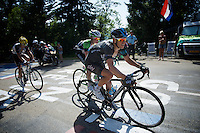 "Richie Porte (AUS/SKY) on the final climb to Chamrousse (1730m/18.2km/7.3%) has a bad day on the bike (lost 8'48"" on Nibali) and seems to have lost any chance for a podium<br /> <br /> 2014 Tour de France<br /> stage 13: Saint-Etiènne - Chamrousse (197km)"
