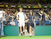 10-2-09,Rotterdam,ABNAMROWTT, Andy Murray players escort