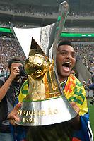 SÃO PAULO,SP, 02.12.2018 - PALMEIRAS-VITÓRIA – Borja do Palmeiras comemoram a conquista do Campeonato Brasileiro de 2018, após  partida contra o Vitória na Arena Allianz Parque em São Paulo, neste domingo, 02. (Foto: Levi Bianco/Brazil Photo Press)