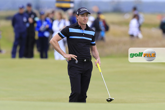 Brett Rumford (AUS) on the 17th green during Monday's Final Round of the 144th Open Championship, St Andrews Old Course, St Andrews, Fife, Scotland. 20/07/2015.<br /> Picture Eoin Clarke, www.golffile.ie