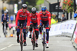 Team Norway takes advantage of free practice on the Harrogate Circuit before the Men Elite Individual Time Trial of the UCI World Championships 2019 running 54km from Northallerton to Harrogate, England. 25th September 2019.<br /> Picture: Eoin Clarke | Cyclefile<br /> <br /> All photos usage must carry mandatory copyright credit (© Cyclefile | Eoin Clarke)