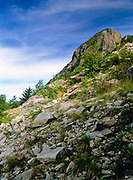 A Section of Eagle Cliff located in Franconia Notch State Park, which is in the White Mountain National Forest of New Hampshire.