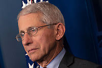 National Institute of Allergy and Infectious Diseases(NIAID) Director Dr. Anthony Fauci listens during a news briefing on coronavirus at the White House in Washington, DC on Sunday, March 15, 2020.<br /> Credit: Chris Kleponis / Pool via CNP/AdMedia
