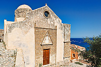 Agios Nikolaos church in the Byzantine castle-town of Monemvasia in Greece