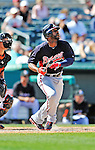 13 March 2012: Atlanta Braves outfielder Jason Heyward in action during a Spring Training game against the Miami Marlins at Roger Dean Stadium in Jupiter, Florida. The two teams battled to a 2-2 tie playing 10 innings of Grapefruit League action. Mandatory Credit: Ed Wolfstein Photo