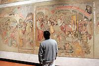 Affreschi nella Pinacoteca Nazionale di Bologna.<br /> Frescoes in Bologna's National Pinacoteca.<br /> UPDATE IMAGES PRESS/Riccardo De Luca