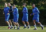 10.08.18 Rangers training: Scott Arfield, Gary McAllister, Ryan Kent, Daniel Candeias and Alfredo Morelos