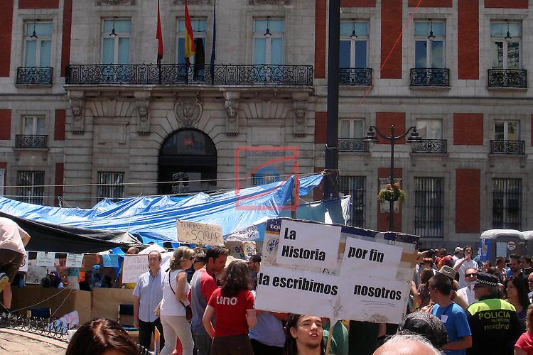 Movimiento protesta 15-M.