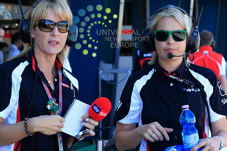 Formula 1 Rolex Australian Grand Prix, 15. - 17.03.2013 .SKY TV Reporters..The 2013 Formula 1 Rolex Australian Grand Prix marks the 29th time that Australia has hosted a round of the FIA Formula One World Championship. The first Australian Grand Prix was held in Adelaide in 1985..Picture: Hasan Bratic/Universal News And Sport (Europe) 15 March 2013