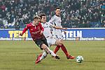 10.02.2018, HDI Arena, Hannover, GER, 1.FBL, Hannover 96 vs SC Freiburg<br /> <br /> im Bild<br /> Felix Klaus (Hannover 96 #11) mit Torschuss und Treffer zum 2:0, &Ccedil;ağlar S&ouml;y&uuml;nc&uuml; / Caglar Soeyuencue (SC Freiburg #04), <br /> <br /> Foto &copy; nordphoto / Ewert