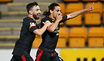 Ryan Edwards celebrates with Steven Lawless after scoring the second goal for Partick Thistle