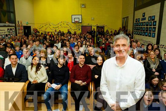 Full house as family and friends gather to honour Mike Sweeney who retired as Principal of Scoil Naisiúnta Uaimh Bhreannain(O'Brennan National School), Kielduff.