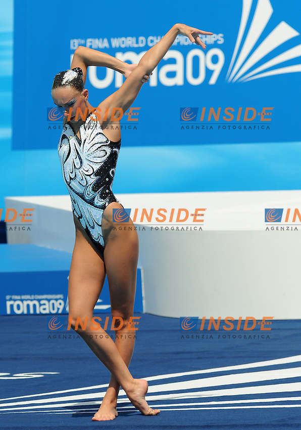 Roma 23th July 2009 - 13th Fina World Championships From 17th to 2nd August 2009....Synchronized swimming - solo free routine..Natalia Ishchenko (RUS) gold medal....photo: Roma2009.com/InsideFoto/SeaSee.com