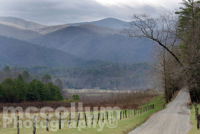 Michael McCollum<br /> 2/18/17<br /> Cades Cove Loop Road in the Great Smoky Mountains National Park, Tennessee.