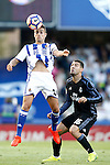 Real Sociedad's David Concha (l) and Real Madrid's Mateo Kovacic during La Liga match. August 21,2016. (ALTERPHOTOS/Acero)