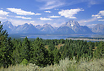View of the Teton Range from Signal Mountain, Grand Teton National Park, Wyoming, USA