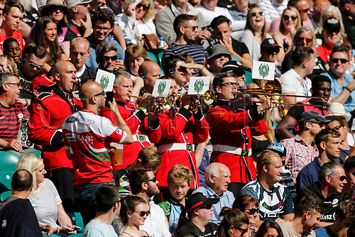 2nd September 2017, Twickenham, London, England; Aviva Premiership Rugby, Saracens versus Northampton;  Saracens fans selenade their team