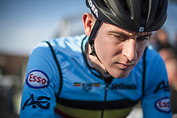 Toon Aerts (BEL) pre race focus. <br /> <br /> UEC CYCLO-CROSS EUROPEAN CHAMPIONSHIPS 2018<br /> 's-Hertogenbosch – The Netherlands<br /> Men Elite Race