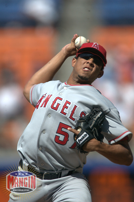 Francisco Rodriguez. Anaheim Angels vs Los Angeles Dodgers. Los Angeles, CA 6/26/2004 MANDATORY CREDIT: Brad Mangin
