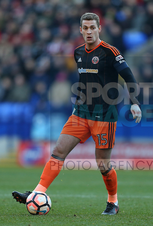 Paul Coutts of Sheffield Utd during the FA Cup Second round match at the Macron Stadium, Bolton. Picture date: December 4th, 2016. Pic Simon Bellis/Sportimage