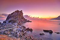 The sunrise at Agios Ioannis Kastri of Skopelos island, Greece