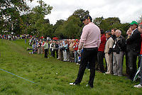 Ryder Cup..Jose Maria Olazabal practises on the 17th hole of the Palmer Course at the K Club..Photo: Eoin Clarke/ Newsfile..